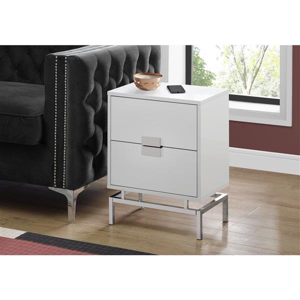 Monarch Accent Table - 23.5-in - Composite - White