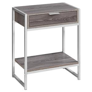 Monarch Accent Table - 12.75-in x 23.75-in - Composite - Dark taupe