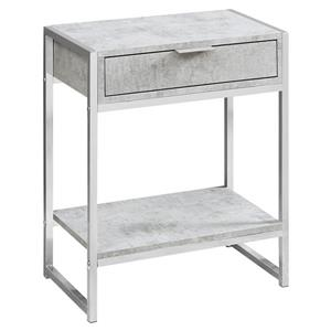 Monarch Accent Table - 12.75-in x 23.75-in - Gray