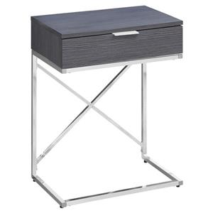 Monarch Accent Table - 12.75-in x 23.5-in - Gray