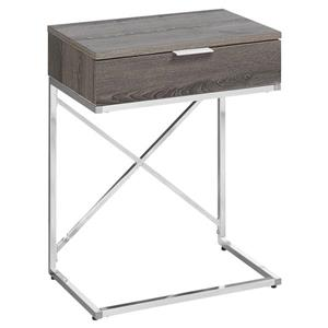 Monarch Accent Table - 12.75-in x 23.5-in - Composite - Dark taupe