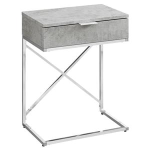 "Table d'appoint, 23,5"", gris"