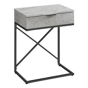 "Table d'appoint, 12,75"", gris"
