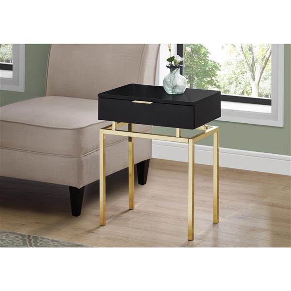 Monarch Accent Table - 12.75-in x 23.25-in - Composite - Cappuccino