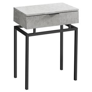 Monarch Accent Table - 12.75-in x 23.25-in - Composite - Gray