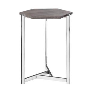 Monarch Accent Table - 24-in - Composite - Dark taupe