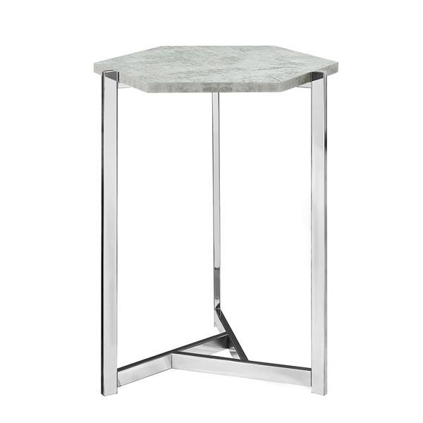 """Table d'appoint, 18,25"""" x 24"""", composite, gris"""