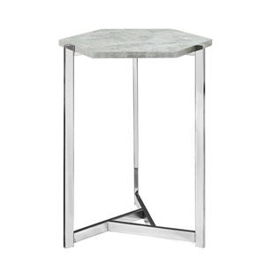 "Table d'appoint, 18,25"" x 24"", composite, gris"