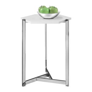 "Table d'appoint, 24"", composite, blanc"