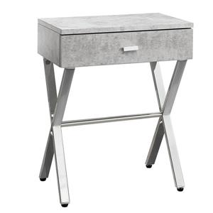 "Table d'appoint, 12"" x 22,25"", composite, gris"