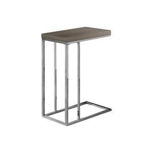 """Table d'appoint, 18,25"""" x 25,25"""", composite, taupe foncé"""