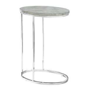 "Table d'appoint, 25"", composite, gris"