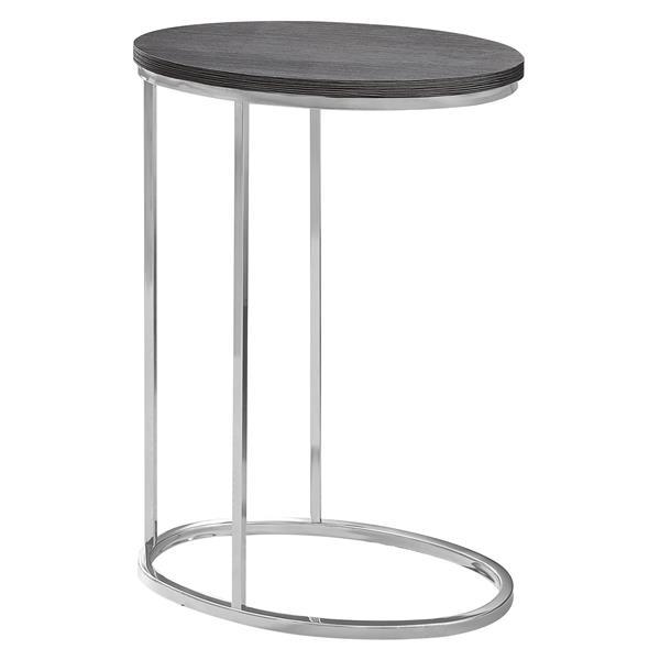 """Table d'appoint, 18,5"""" x 25"""", composite, gris"""