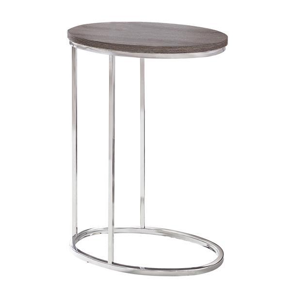 """Table d'appoint, 18,5"""" x 25"""", composite, taupe foncé"""