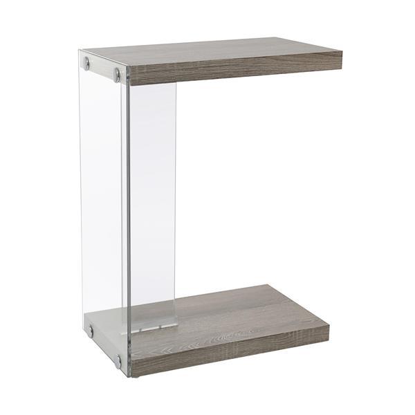 """Table d'appoint, 18,5"""" x 24,75"""", composite, taupe foncé"""