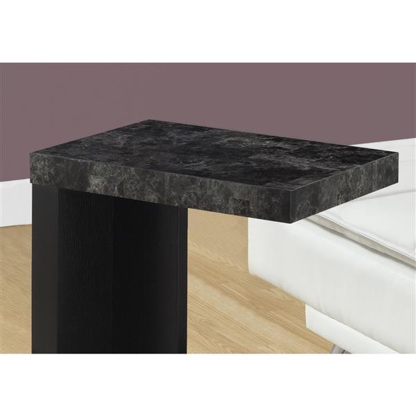 """Table d'appoint, 24"""", composite, noir"""
