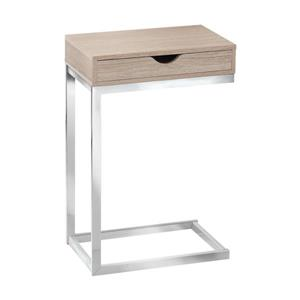 Monarch Accent Table - 10.25-in x 24.5-in - Composite - Natural