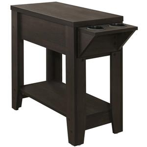 Monarch Accent Table - 24-in x 24-in - Composite - Cappuccino