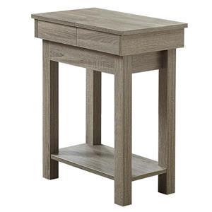 """Table d'appoint, 20"""" x 24"""", composite, taupe foncé"""