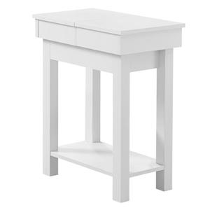 "Table d'appoint, 20"" x 24"", composite, blanc"