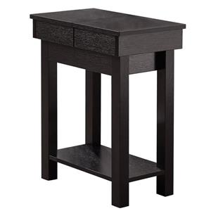 Monarch Accent Table - 20-in x 24-in - Composite - Cappuccino