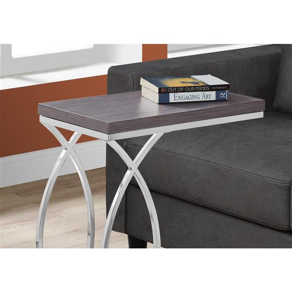 Monarch Accent Table - 18.25-in - Composite - Gray
