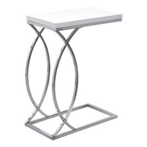 "Monarch Accent Table - 18.25"" x 25"" - Composite - White"