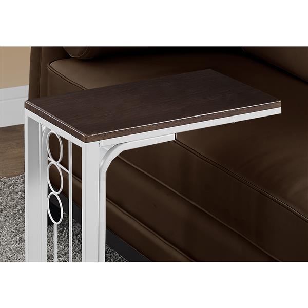 """Table d'appoint, 16"""" x 24,5"""", composite, cerise"""