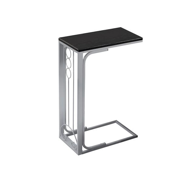 Monarch Accent Table - 16-in x 24.5-in - Composite - Black