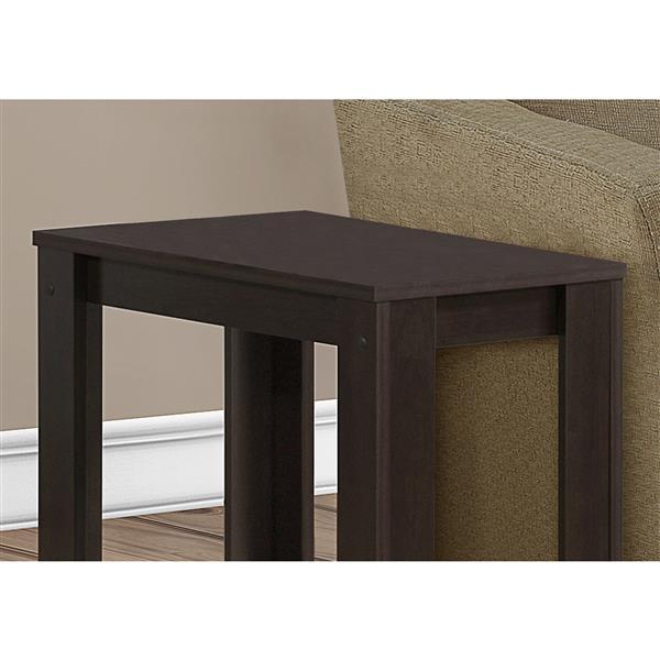 Monarch Accent Table - 22-in - Composite - Cappuccino