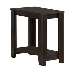Monarch Accent Table - 22-in - Composite - Cappuccino