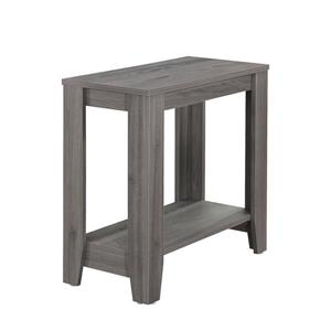 "Table d'appoint, 11,75"" x 22"", composite, gris"