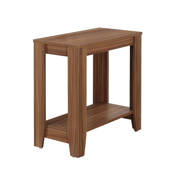 Monarch Accent Table - 11.75-in x 22-in - Composite - Walnut