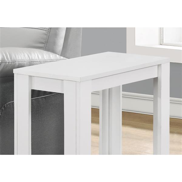 "Table d'appoint, 22"", composite, blanc"