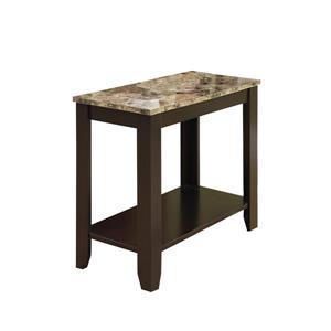 Monarch Accent Table - 21.5-in - Composite - Cappuccino
