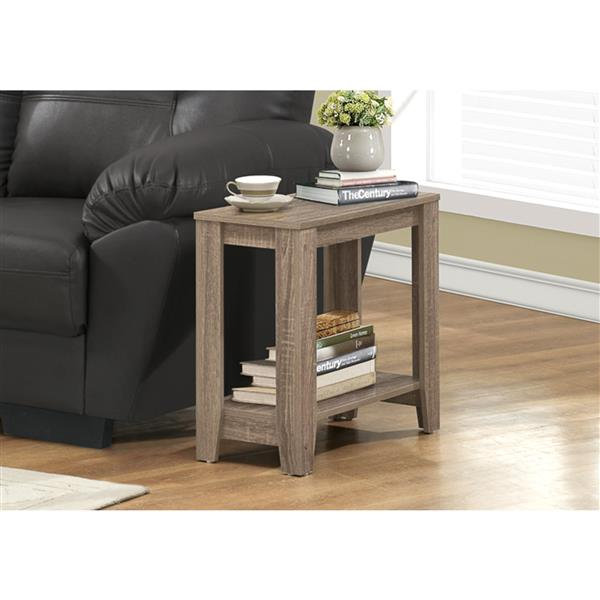 Monarch Accent Table - 22-in - Composite - Dark taupe