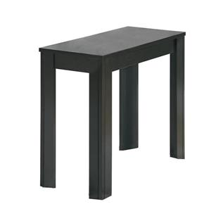 """Table d'appoint, 12"""" x 21,5"""", composite, noir"""