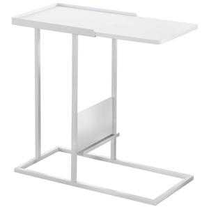 "Table d'appoint, 23,75"" x 23,75"", composite, blanc"