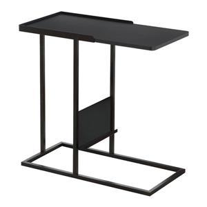 """Table d'appoint, 23,75"""" x 23,75"""", composite, noir"""