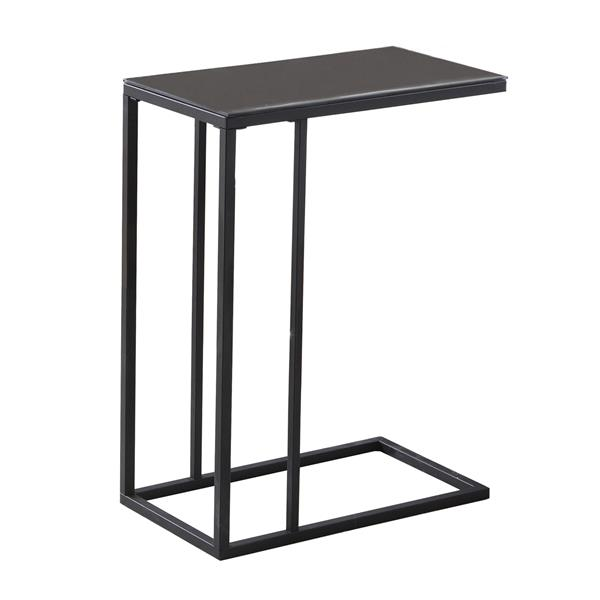 Monarch Accent Table - 18.25-in x 24-in - Glass - Black