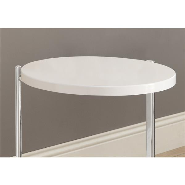 Monarch Accent Table - 18.25-in x 23.5-in - Composite - White