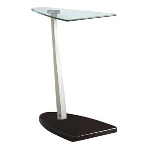 Monarch Accent Table - 17.75-in x 23.75-in - Glass - Black