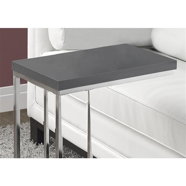 "Table d'appoint, 25,25"", gris"