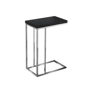 Monarch Accent Table - 18.25-in x 25.25-in - Composite - Black