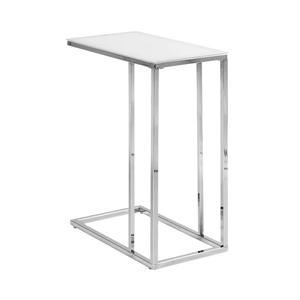 Monarch Accent Table - 18.25-in x 24-in - Glass - Chrome