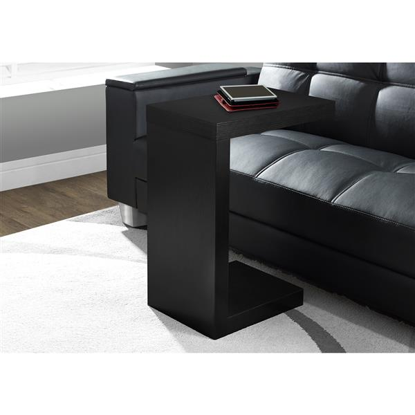 Monarch Accent Table - 11.5-in x 24-in - Composite - Black