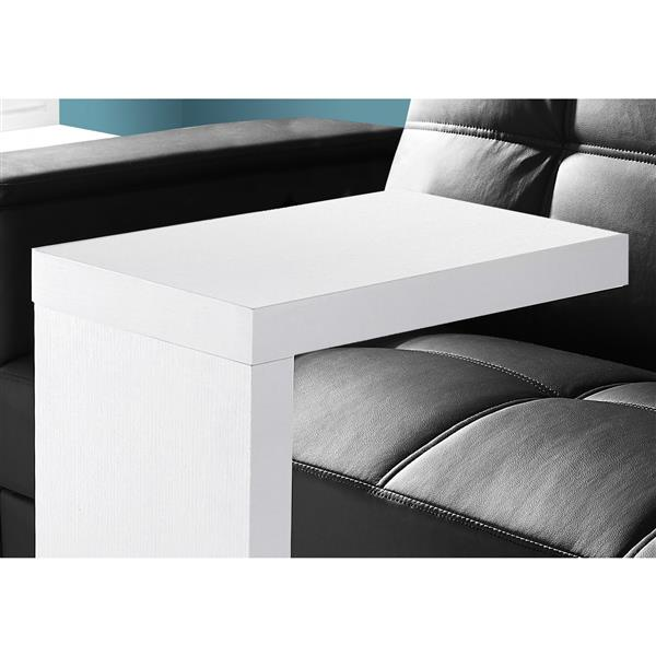 "Table d'appoint, 11,5"", composite, blanc"