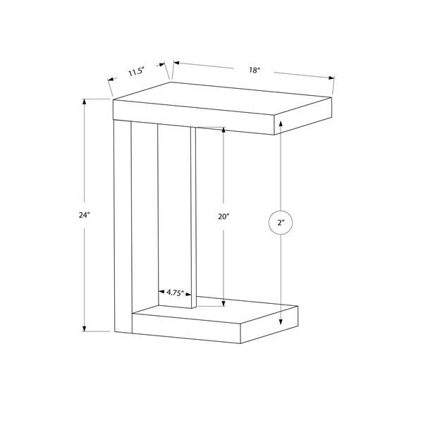 Monarch Accent Table - 11.5-in - Composite - White