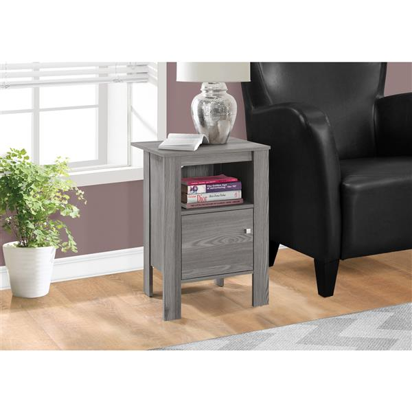 Monarch Accent Table - 14-in x 24.25-in - Composite - Gray