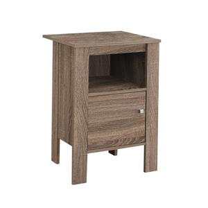Monarch Accent Table - 14-in x 24.25-in - Composite - Dark taupe